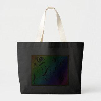 Rainbow Floral Tote Bag
