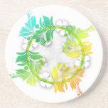 Rainbow Floral Beverage Coasters
