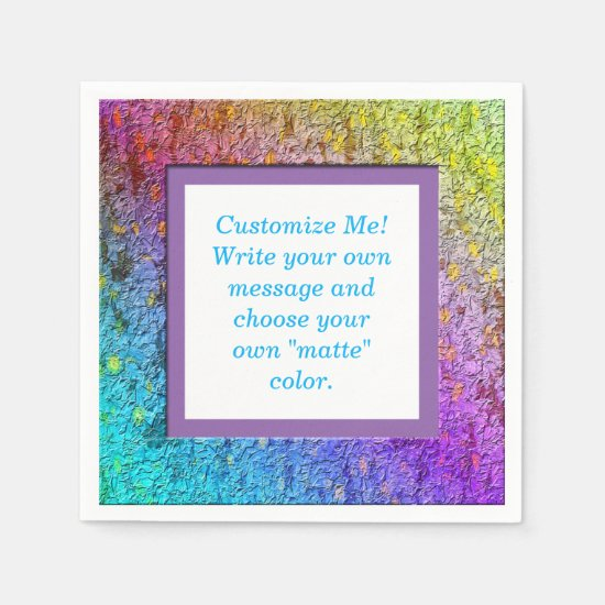 [Rainbow Floral Frame] Abstract Flowers Paper Paper Napkin