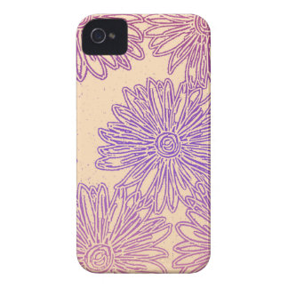 Rainbow floral graphic iPhone 4 cover