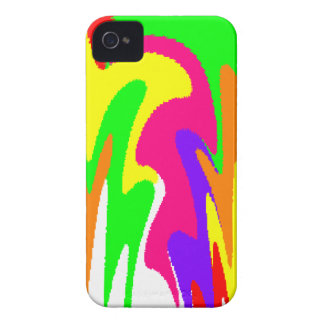 Rainbow Floral iPhone 4 Case-Mate Case