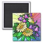 Rainbow Floral Magnet