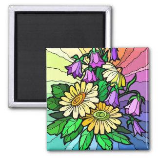 Rainbow Floral Fridge Magnets