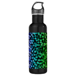 Rainbow Floral Pattern Water Bottle