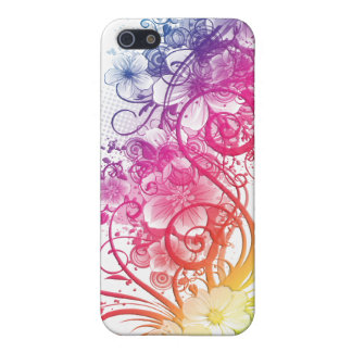 Rainbow Floral Pern ® Fitted™ Hard Shell C Case For iPhone SE/5/5s