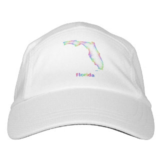 Rainbow Florida map Headsweats Hat