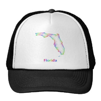 Rainbow Florida map Trucker Hat