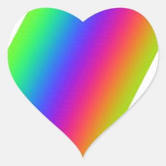 Rainbow Flourish Heart Sticker