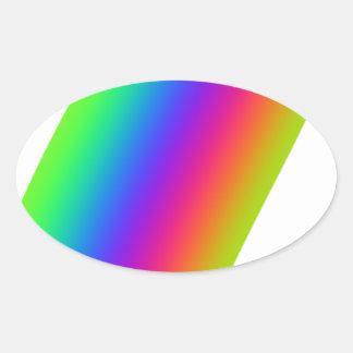 Rainbow Flourish Oval Sticker
