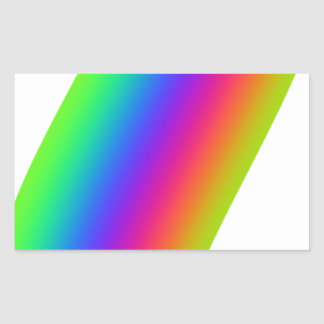Rainbow Flourish Rectangular Sticker