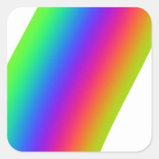 Rainbow Flourish Square Sticker