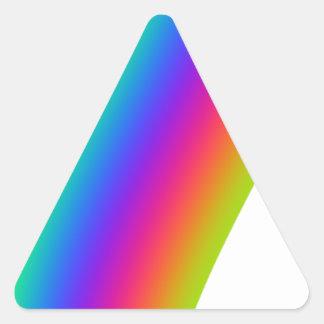 Rainbow Flourish Triangle Sticker