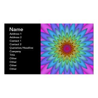 Rainbow Flower Abstract Art Business Card