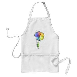 Rainbow flower aprons