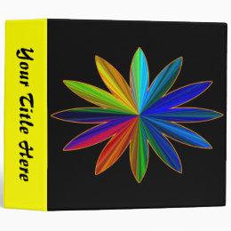 Rainbow Flower Binder