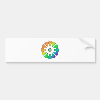 Rainbow Flower Bumper Sticker