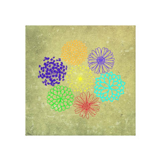 Rainbow Flower Canvas Print 12 x 12