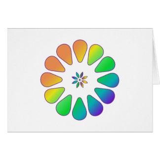 Rainbow Flower Card