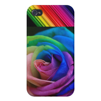 Rainbow Flower Case For iPhone 4