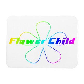 Rainbow Flower Child Rectangular Photo Magnet