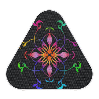 Rainbow flower design speaker