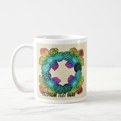 Rainbow Flower Doodle Mug