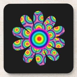 Rainbow Flower Drink Coaster