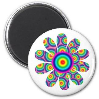 Rainbow Flower Fridge Magnet