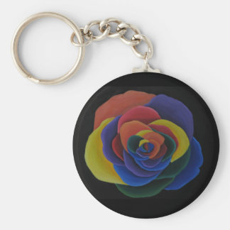 Rainbow Flower Key Chain