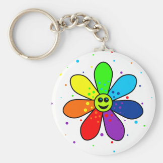 Rainbow Flower Keychain