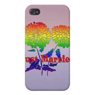 Rainbow Flower Marriage iPhone 4/4S Cover