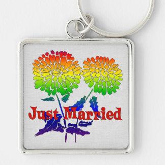 Rainbow Flower Marriage Keychain