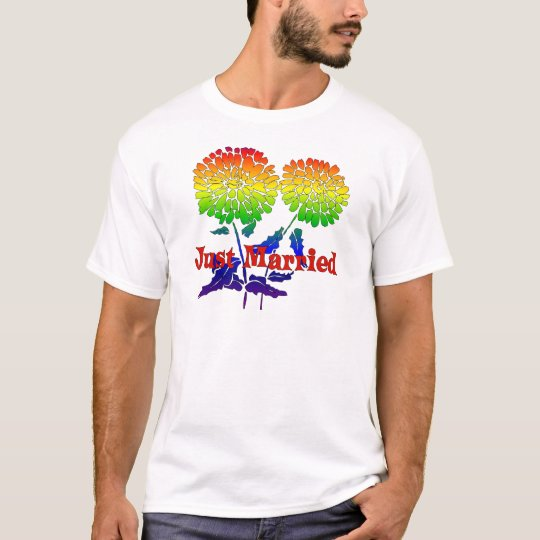 Rainbow Flower Marriage T-Shirt