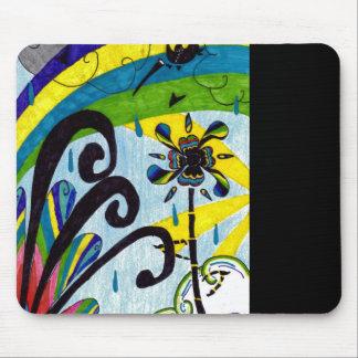 rainbow flower mouse pad