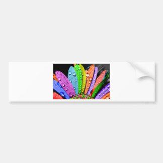 Rainbow flower pedals bumper sticker