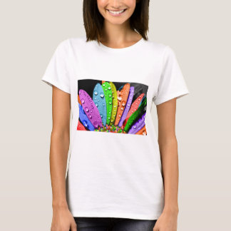 Rainbow flower pedals T-Shirt