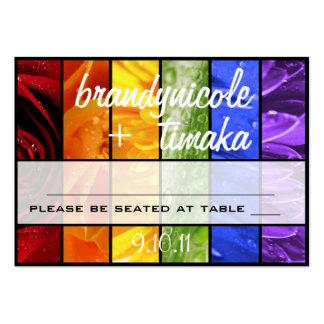 Rainbow Flower Placecards Business Card Templates