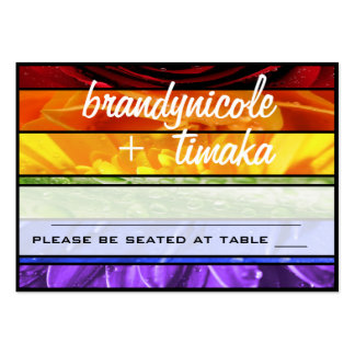 Rainbow Flower Placecards Business Card Template