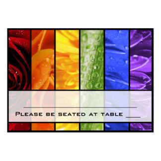 Rainbow Flower Placecards Business Card