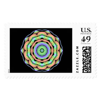 Rainbow Flower Stamps