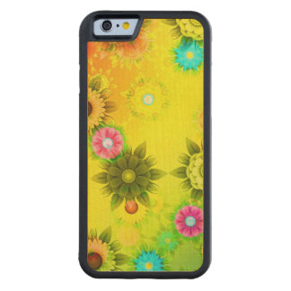 Rainbow Flower Power Carved® Maple iPhone 6 Bumper