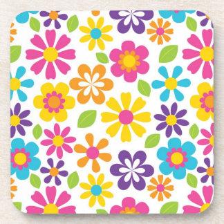 Rainbow Flower Power Hippie Retro Teens Gifts Beverage Coaster