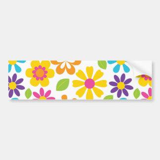Rainbow Flower Power Hippie Retro Teens Gifts Bumper Sticker