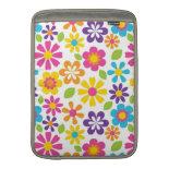 Rainbow Flower Power Hippie Retro Teens Gifts Sleeves For MacBook Air