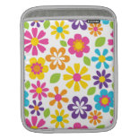 Rainbow Flower Power Hippie Retro Teens Gifts Sleeve For iPads