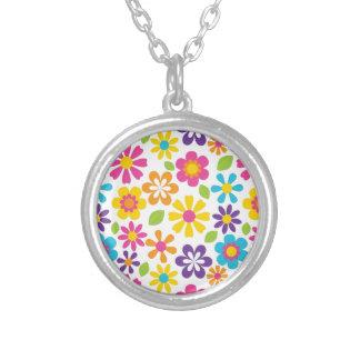 Rainbow Flower Power Hippie Retro Teens Gifts Custom Necklace