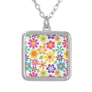 Rainbow Flower Power Hippie Retro Teens Gifts Necklaces