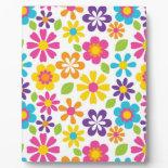 Rainbow Flower Power Hippie Retro Teens Gifts Display Plaque