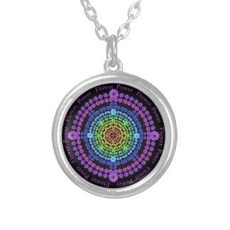 Rainbow Flower Power Mandala Necklace