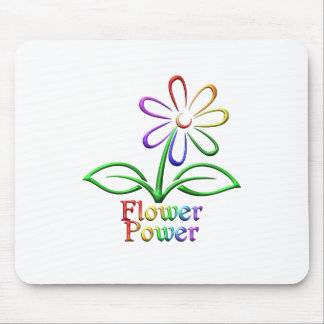 Rainbow Flower Power Mouse Pad